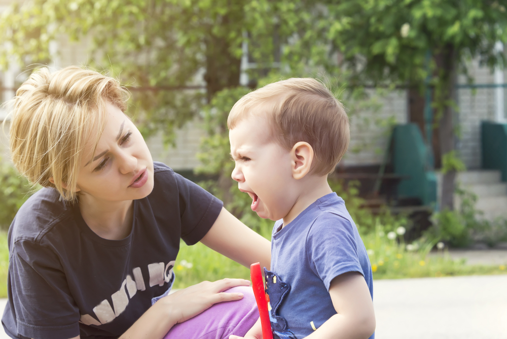 calming a tantruming child