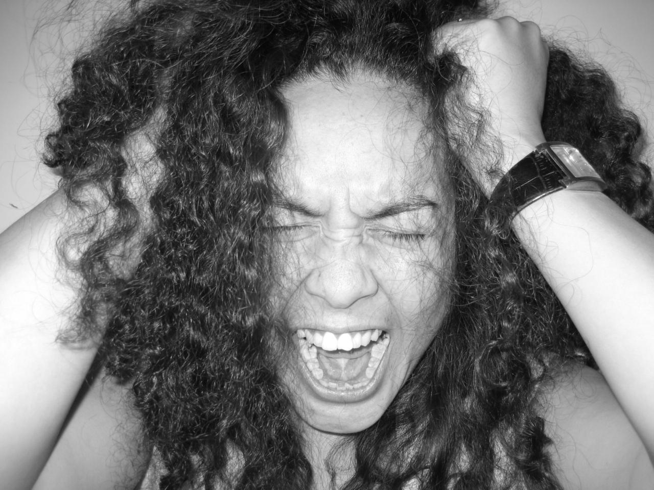 Screaming Mum Pulling Hair