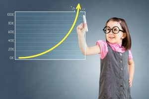 shutterstock 396071407 300x200 - blog good parenting skills child with graph
