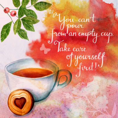 Self care graphic - Self Care For Busy Mums