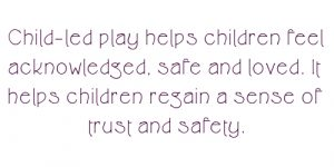 Copy of All behaviour from our children is communication. 300x150 - child led play for trust
